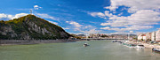 Gellert Hill And Danuber River In Budapest Print by Michal Bednarek