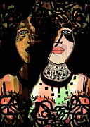 Lime Green Mixed Media Posters - Gemini Poster by Natalie Holland