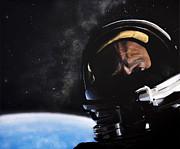 Gemini Xii- Buzz Aldrin Print by Simon Kregar