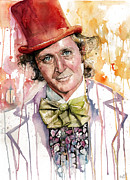 Sports Art Painting Acrylic Prints - Gene Wilder Acrylic Print by Michael  Pattison