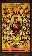 High Society Prints - Genealogy Of The State Of Muscovy Panegyric To Our Lady Of Vladimir Print by MotionAge Art and Design - Ahmet Asar