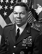 African American History Art - General Colin Powell by War Is Hell Store