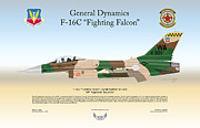 Usaf Framed Prints - General Dynamics F-16 Fighting Falcon Framed Print by Arthur Eggers