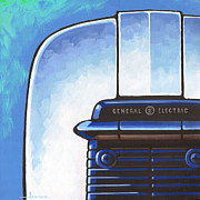 Toaster Paintings - General Electric Toaster - blue by Larry Hunter