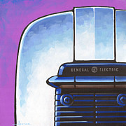 Toaster Paintings - General Electric Toaster - purple by Larry Hunter