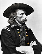 Bighorn Framed Prints - General George Armstrong Custer  Framed Print by Daniel Hagerman