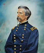 Gettysburg Painting Framed Prints - General Joshua Chamberlain Framed Print by Glenn Beasley