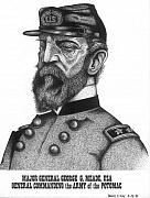 Leader Drawings - General Meade by Bruce Kay