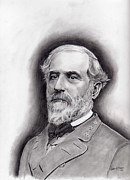Confederacy Drawings Prints - General Robert E. Lee Print by Lou Knapp