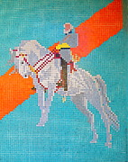 Robert Myers Prints - General Robert E. Lee Mosaic Art. Print by Robert Birkenes