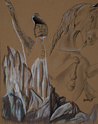 Statue Pastels Prints - General San Martin Print by Jocelyn Paine