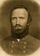 Portraiture Photo Framed Prints - General Stonewall Jackson 1871 Framed Print by Anonymous