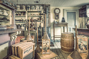 Goods Prints - General Store - 19th Century Seaport Village Print by Gary Heller