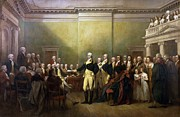 Large Prints Posters - General Washington Resigning his Commission Poster by Pg Reproductions