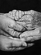 Hands Drawings Acrylic Prints - Generations Acrylic Print by Curtis James