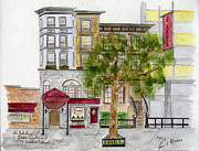 Greenwich Village Paintings - Genes Restaurant in Greenwich Village by Lynn Lieberman
