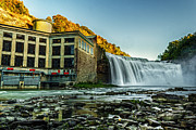Tim Buisman Art - Genesee River Waterfall 2 by Tim Buisman