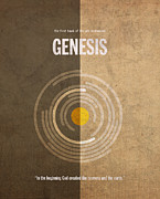 Old Mixed Media - Genesis Books of the Bible Series Old Testament Minimal Poster Art Number 1 by Design Turnpike