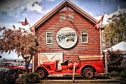 Winery Photography Digital Art Posters - Geneva on the Lake Firehouse Poster by Alice Terrill