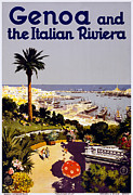 Portofino Village Art Posters - Genoa Italy Poster by Nomad Art And  Design
