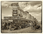 Italian Market Photo Prints - Genos with Cycles Print by Jack Paolini
