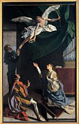 Black White Angels Art Prints - Gentileschi Orazio, Sts Cecilia Print by Everett