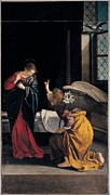 Genoa Framed Prints - Gentileschi Orazio, The Annunciation Framed Print by Everett