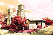 Stone Chimney Posters - Gentle Farm House Poster by Phill Petrovic