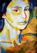 Expressionist Paintings - Gentle gaze by Helena Wierzbicki
