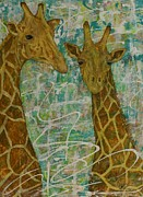 Jane Chesnut Prints - Gentle Giants Print by Jane Chesnut