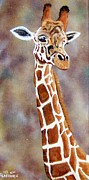 Long Neck Prints - Gentle Giraffe Print by Debbie LaFrance
