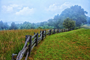 Rail Fence Framed Prints - Gentle Morning - Blue Ridge Parkway I Framed Print by Dan Carmichael