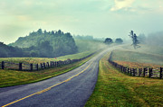 Split Rail Fence Photo Metal Prints - Gentle Morning - Blue Ridge Parkway II Metal Print by Dan Carmichael