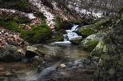 Beautiful Creek Prints - Gentle Mountain Stream Print by Steve Hurt