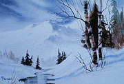 Gentle Mountains Print by Teresa Ascone