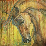 Horses Acrylic Prints - Gentle Soul Acrylic Print by Silvana Gabudean