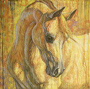 Equine Painting Framed Prints - Gentle Spirit Framed Print by Silvana Gabudean