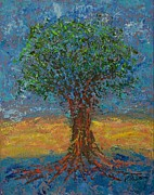 Pallet Knife Prints - Gentle Strength Print by William Killen