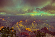 Gentle Sunrise Over The Canyon Print by Lisa  Spencer