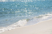 Navarre Beach Photographs Prints - Gentle Waves Print by Emilee Pendl
