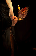 Gentleman Photos - Gentleman in 18th Century Clothing with a Candle by Jill Battaglia