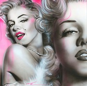 Surrealism Portrait Posters - Gentlemen Prefer Blondes Poster by Christian Chapman Art