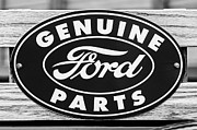 Parts Photo Posters - Genuine Ford Parts Sign Poster by Jill Reger