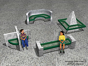 Cross Sculptures - Geo Benches by Peter Piatt