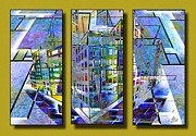 D.w Drawings Framed Prints - Geocity Framed Print by Troy Brown