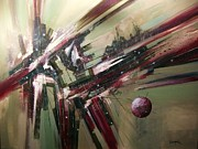 Outer Space Abstract Paintings - Geode Formation by Tom Shropshire