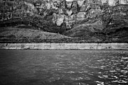 Geologic Prints - geologic details of rock strata and erosion on the wall of the grand canyon and colorado river Arizo Print by Joe Fox