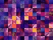 Irina Sztukowski - Geometric Abstract Design Purple Meadow