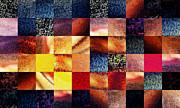 Irina Sztukowski - Geometric Abstract Design Sunrise Squares