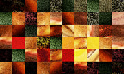 Irina Sztukowski - Geometric Abstract Design Sunset Squares